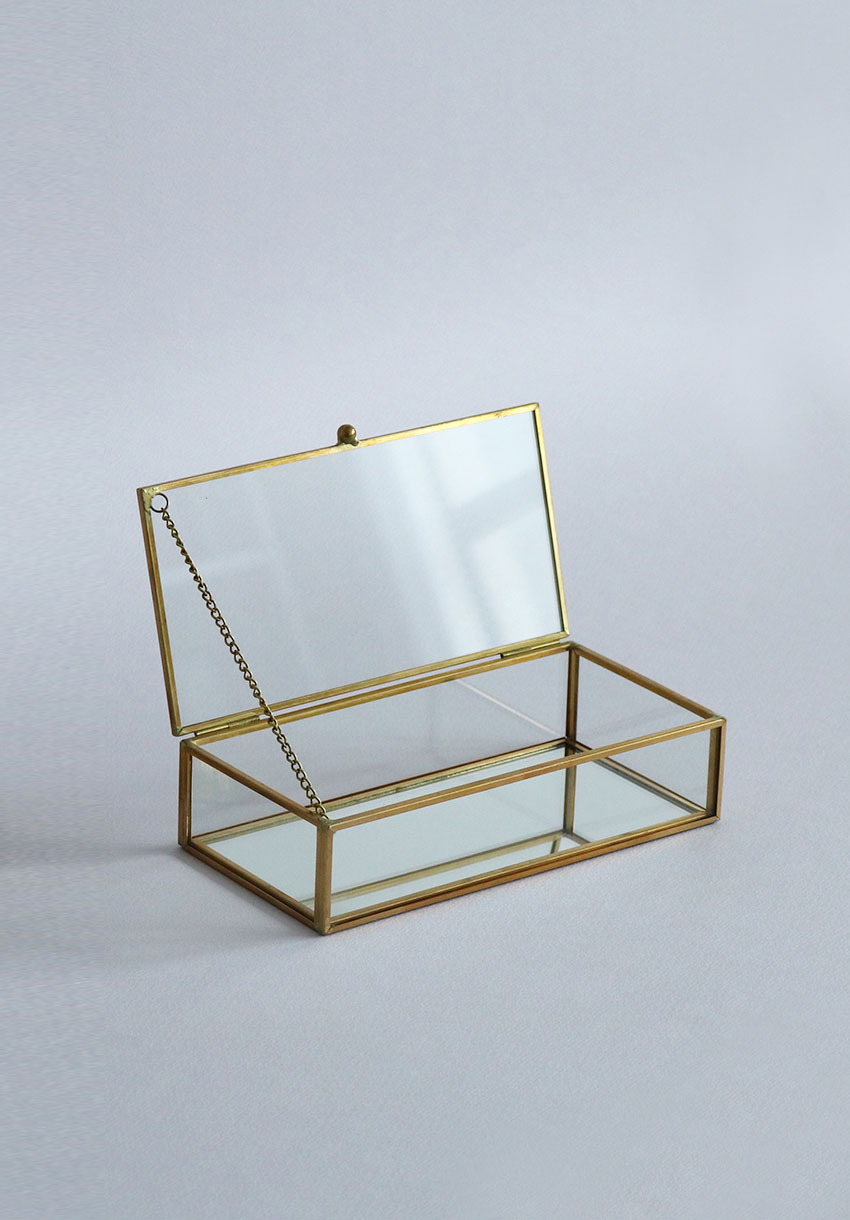 Brass Glass Jewel Box