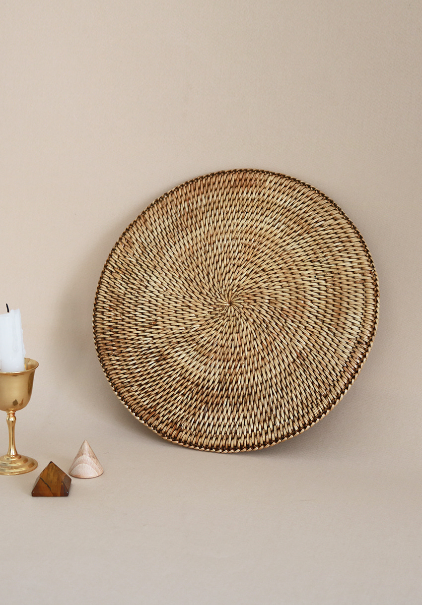 Natural Circle Mat•Last one•