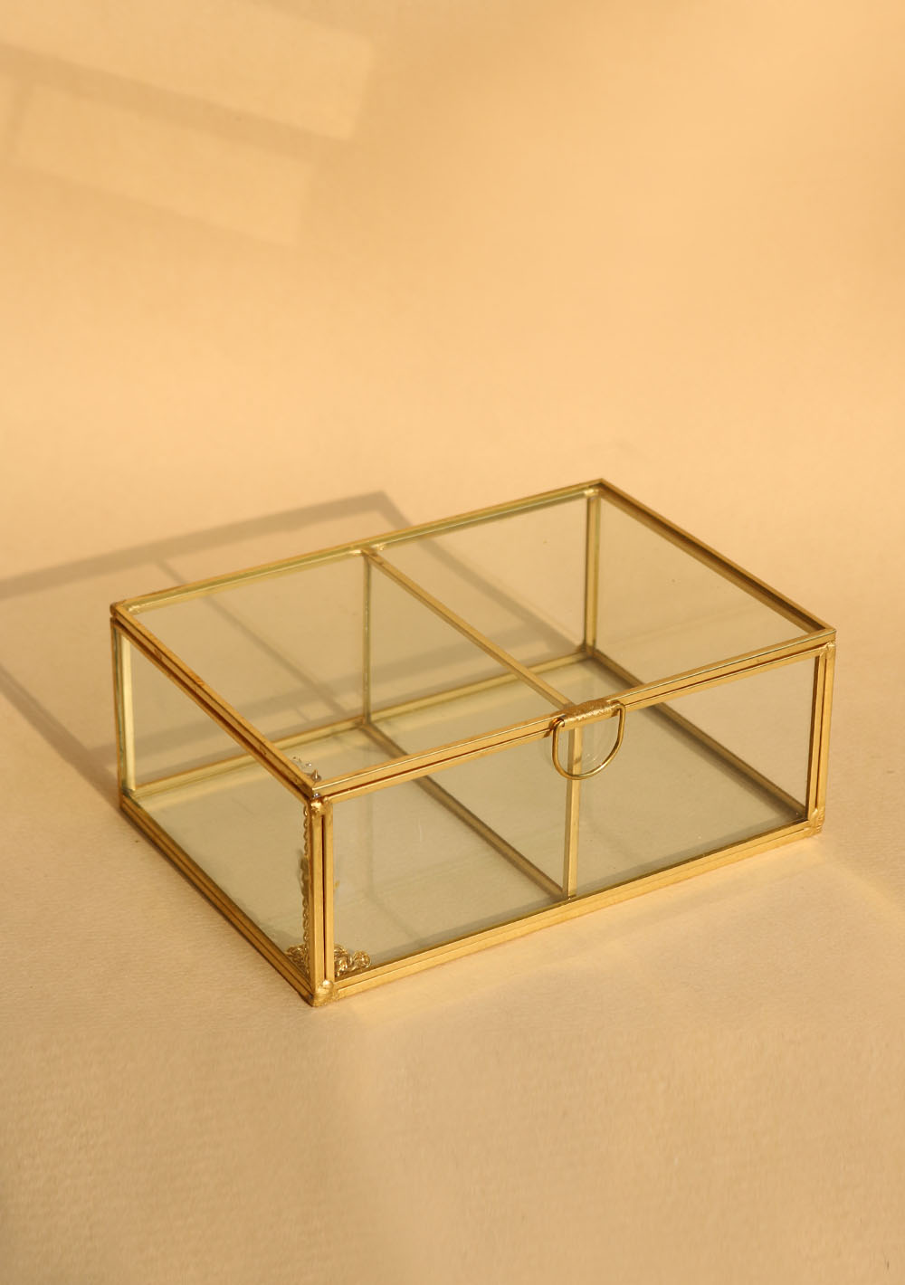 Brass & Glass Box - Square