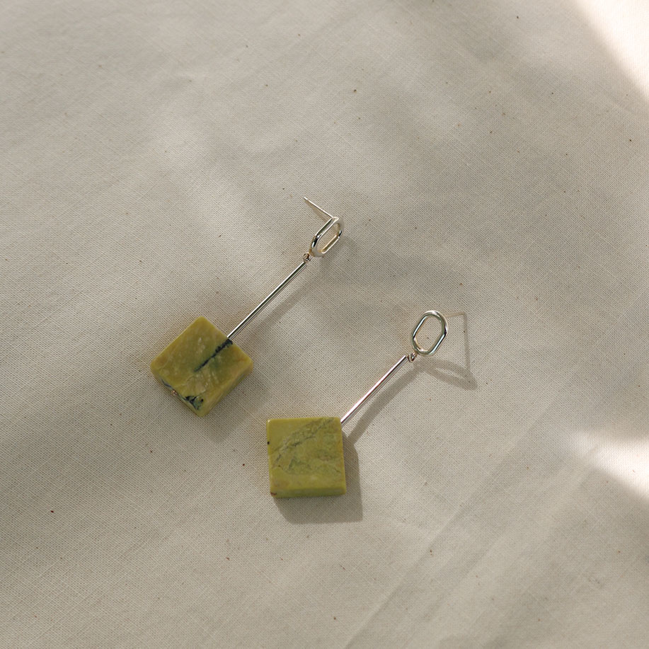 "Remember,me Earring032 ""square & diamond"""