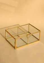 Brass & Glass Box - Square  • 재입고 •