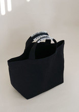 "Stitch Cotton Bag""black + white"""