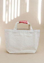 "Subplot_Stitch Cotton Bag""ivory + red """